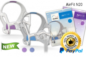AirFit N20 and AirFit N20 for Her Nasal CPAP Mask with Headgear