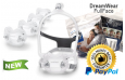 DreamWear Full Face CPAP Mask with Headgear - Fit Pack (S, M, MW, L Cushions with Medium Frame)